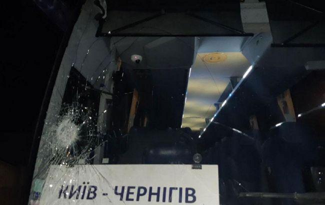 В Чернигове напали на пассажирский автобус