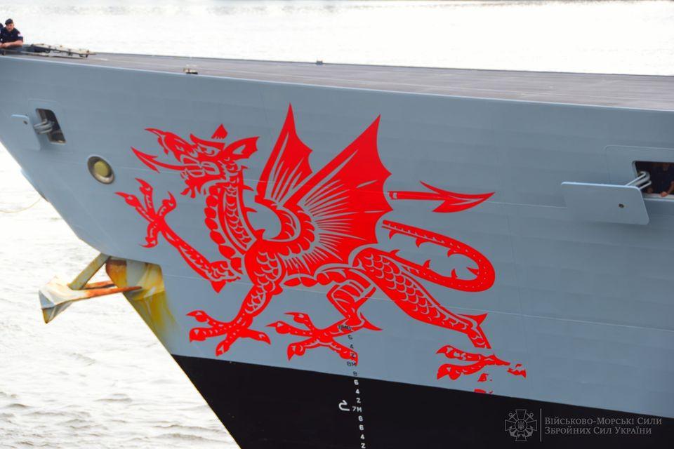 """В Одесский порт зашел эсминец Королевских ВМС Великобритании """"Dragon"""" (ФОТО) 9"""