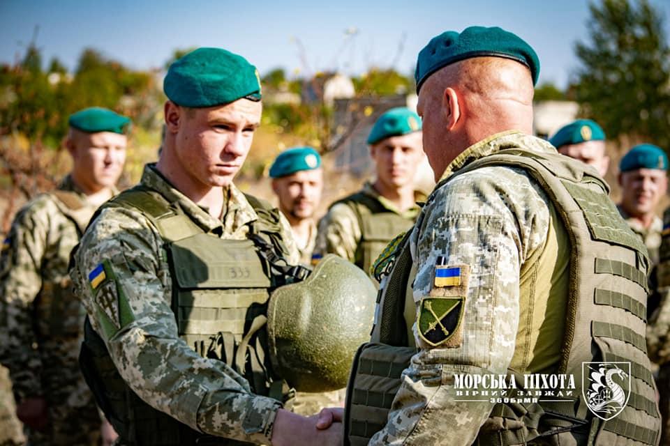 Николаевские морпехи давали Клятву морского пехотинца в Широкино (ФОТО) 9