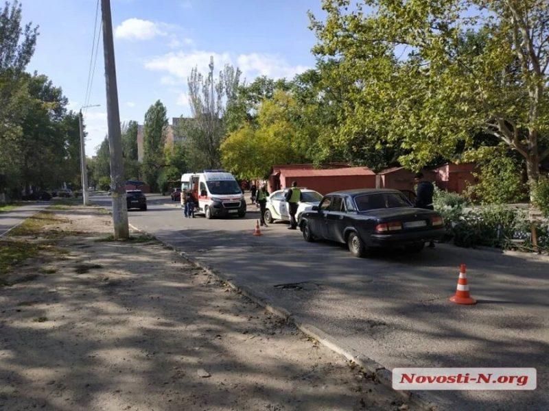 В центре Николаева сбили школьницу. Девочка госпитализирована (ФОТО)