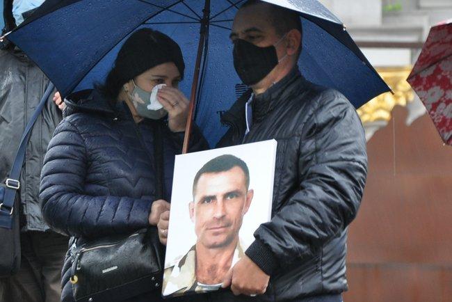 С совершившим самосожжение ветераном Микитенко попрощались на Майдане (ФОТО)