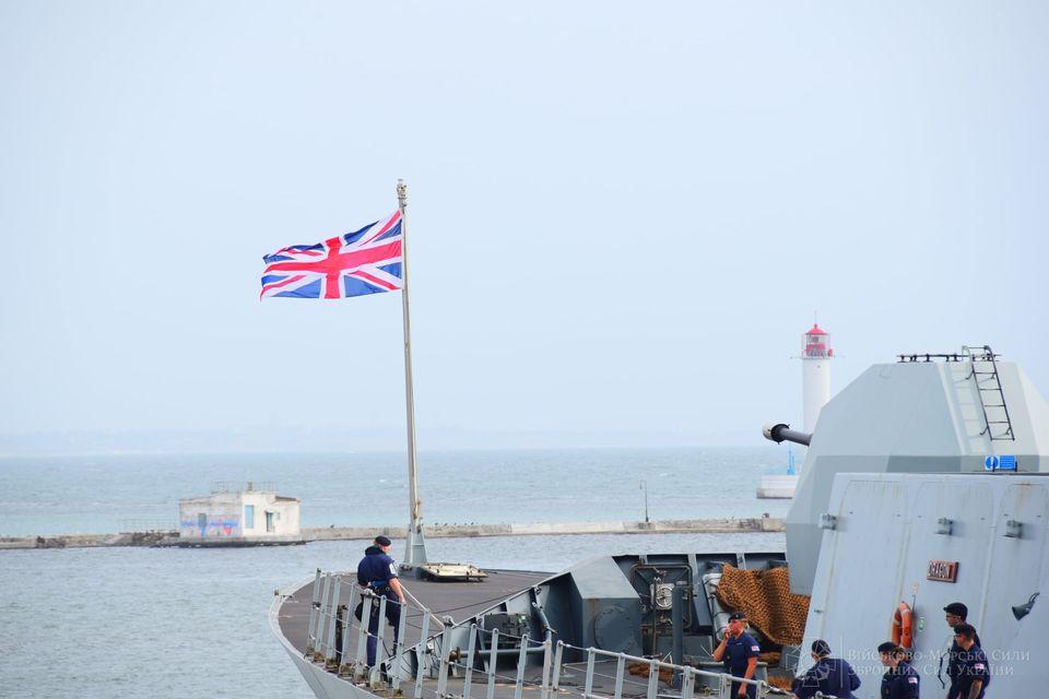 """В Одесский порт зашел эсминец Королевских ВМС Великобритании """"Dragon"""" (ФОТО) 13"""