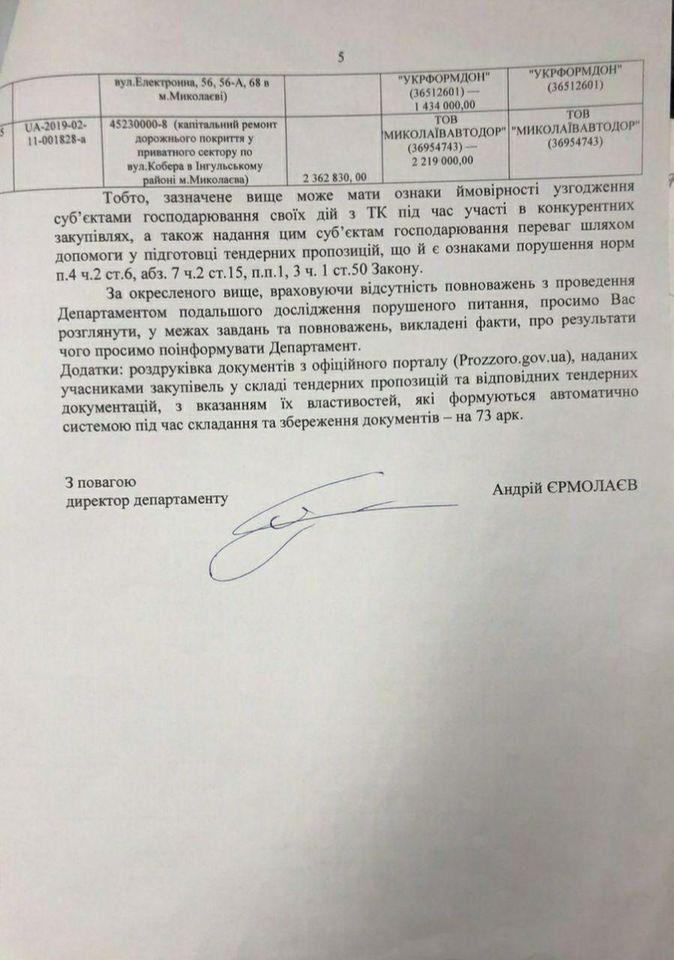Документы предпринимателей для участия в тендерах готовились в администрации Ингульского района Николаевского горсовета - Ермолаев (ДОКУМЕНТЫ) 15