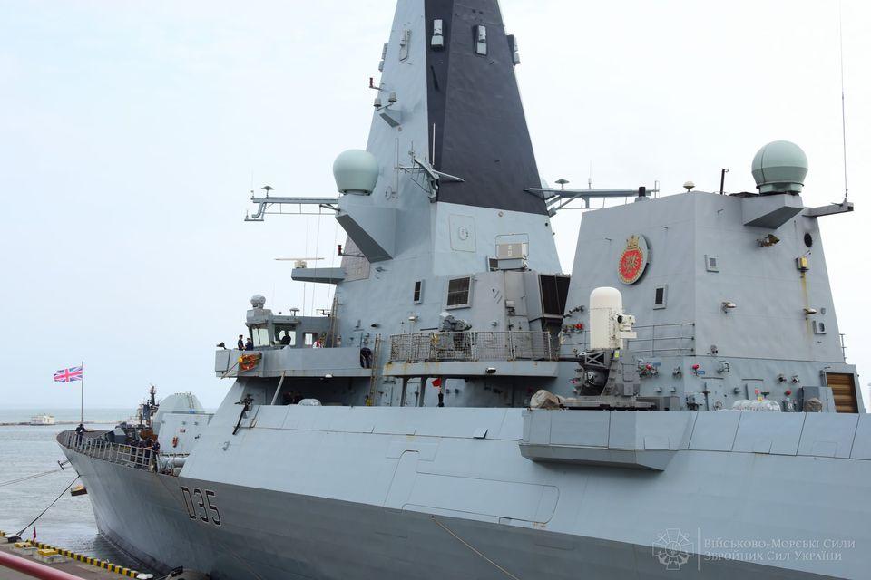 """В Одесский порт зашел эсминец Королевских ВМС Великобритании """"Dragon"""" (ФОТО) 15"""