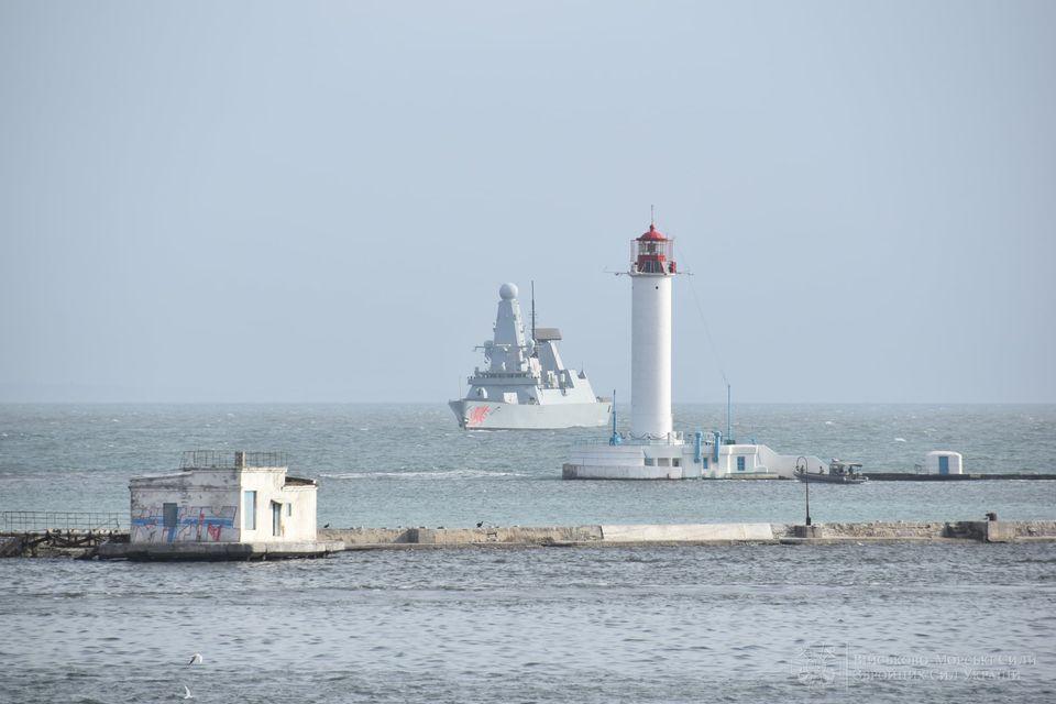 """В Одесский порт зашел эсминец Королевских ВМС Великобритании """"Dragon"""" (ФОТО) 17"""