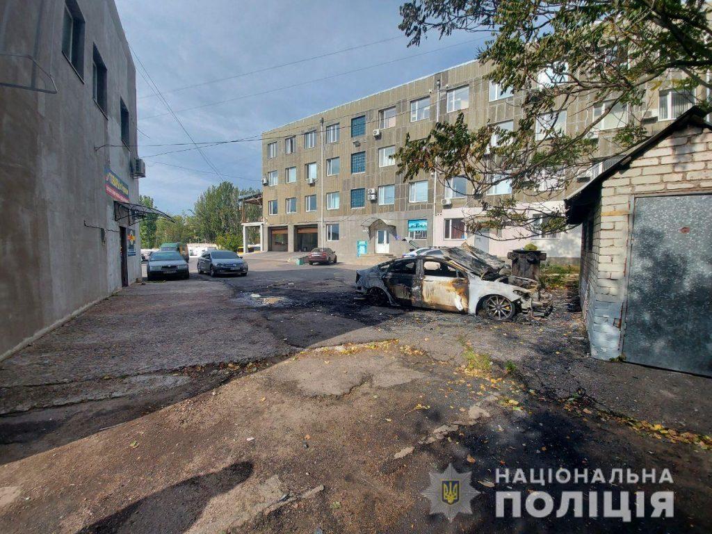 Николаевская полиция расследует поджог машины Жело, которая сгорела ночью на Мореходной (ФОТО) 1