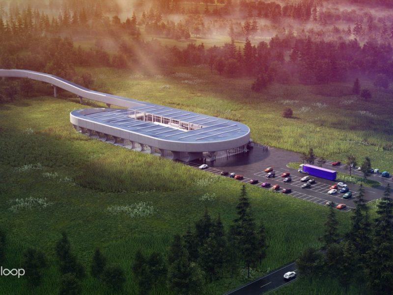 В США построят тестовую станцию Hyperloop (ФОТО)