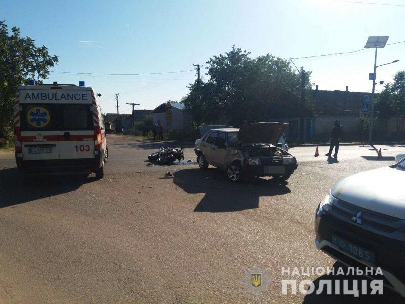 В Казанке полиция задержала 17-летнего водителя ВАЗа, который сбил мотоциклиста (ФОТО)