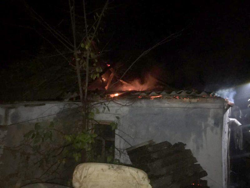 Ночью в Пересадовке горела летняя кухня