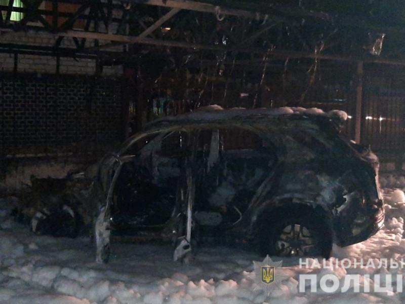 Поджог: в Николаеве горели два Mercedes-Benz (ФОТО)