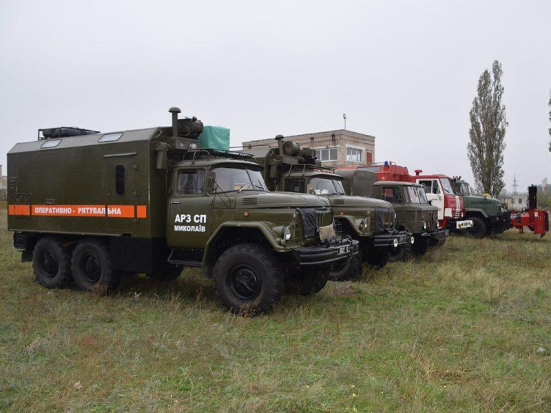 Спасатели Николаевщины проверили готовность техники к работе зимой (ВИДЕО)