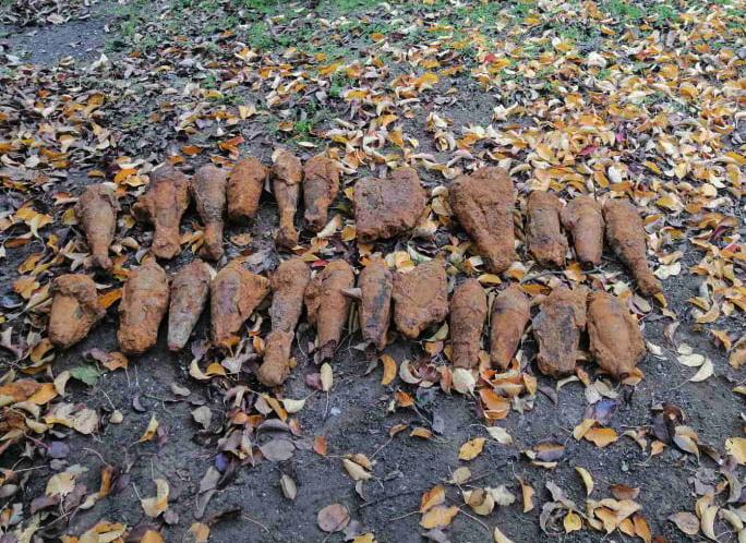 На Николаевщине пиротехники уничтожили сразу 25 минометных мин