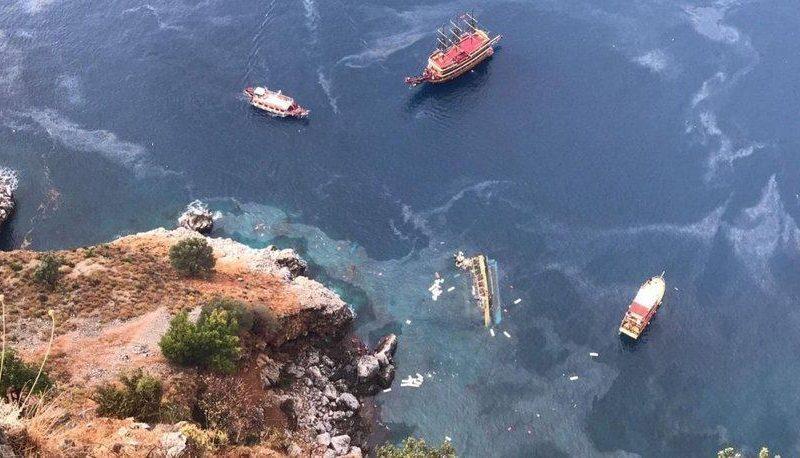 В Турции перевернулся и затонул катер с туристами (ВИДЕО)