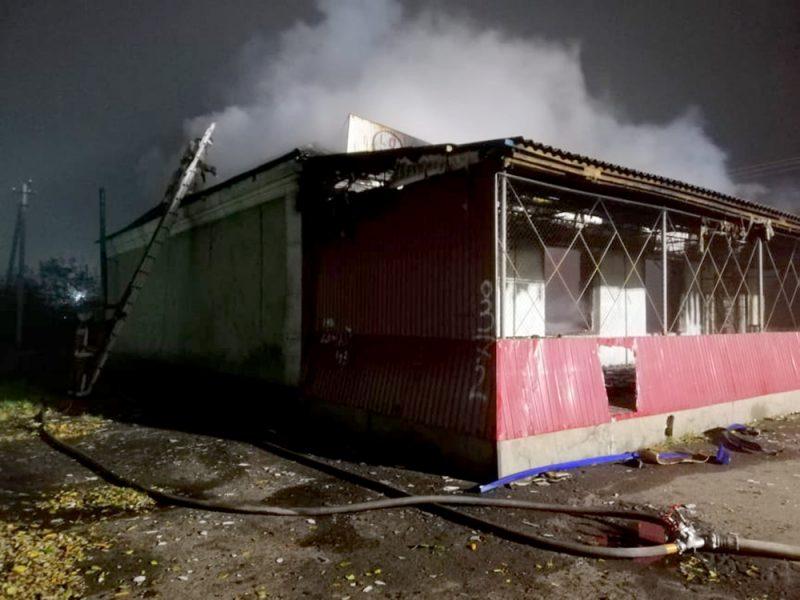 В Первомайском районе горело неэксплуатируемое здание (ФОТО)