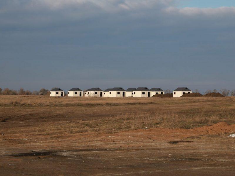 На полигоне «Широкий лан», что на Николаевщине, строят объект для практической отработки штурма населенного пункта (ФОТО)