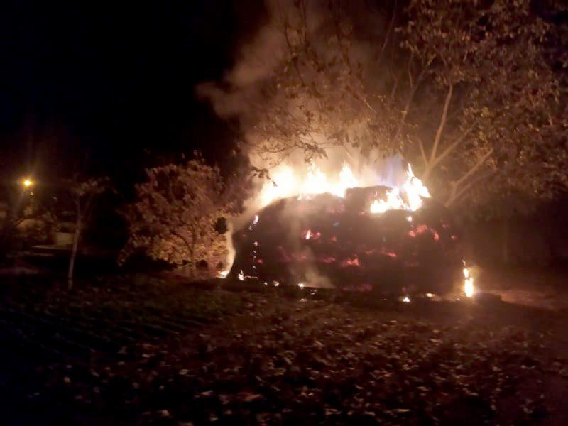 Большой огонь. В Вознесенске сгорело 20 тонн сена