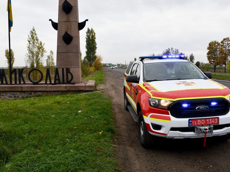 Спасатели Николаевщины получили три аварийно-спасательных машины САРМ-Л (ФОТО, ВИДЕО)