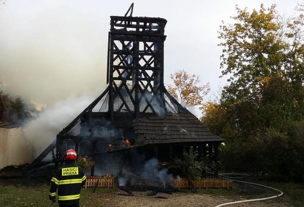 На восстановление сгоревшей в Праге украинской церкви уже собрано более 1 млн. крон