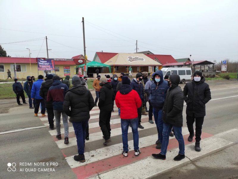 На Кировоградщине бастуют работники урановых шахт: перекрыты три автотрассы (ФОТО, ВИДЕО)
