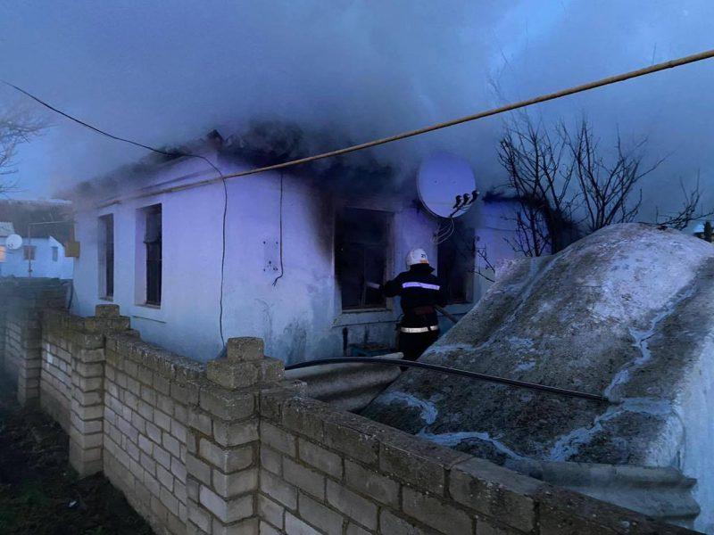 На Николаевщине из-за детских шалостей горел жилой дом