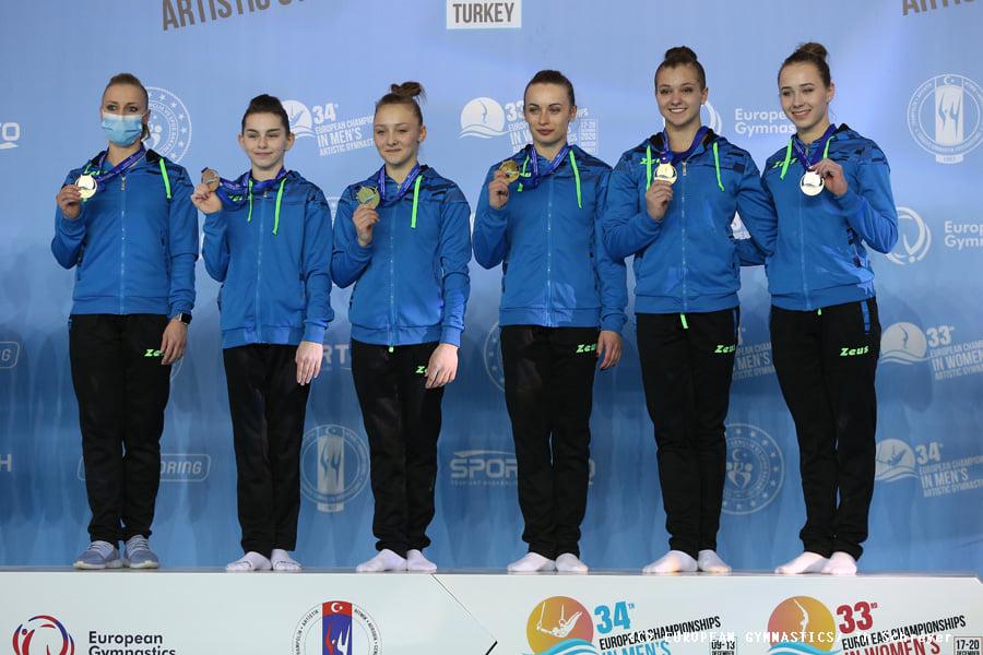 Украинские спортивные гимнастки взяли золото на Чемпионате Европы (ФОТО) 5