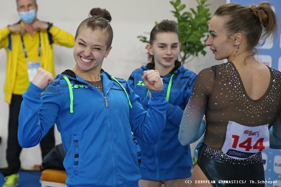 Украинские спортивные гимнастки взяли золото на Чемпионате Европы (ФОТО) 9