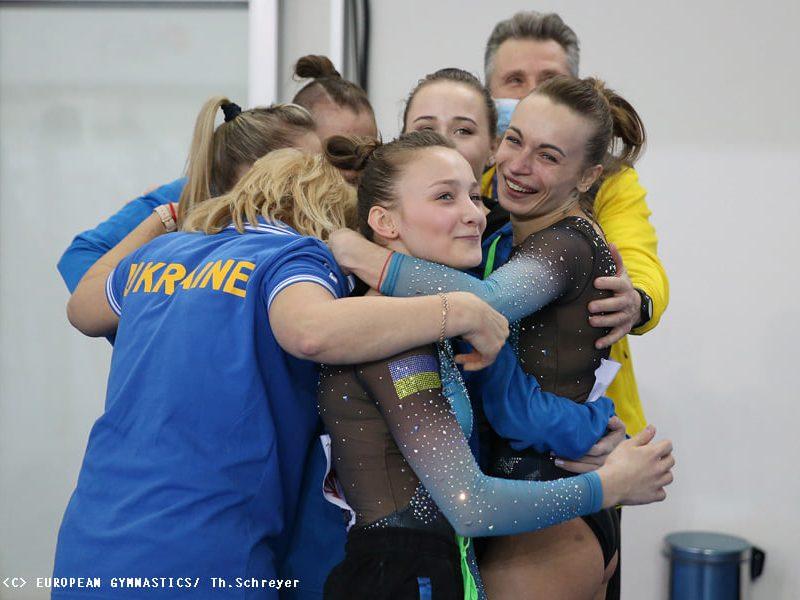 Украинские спортивные гимнастки взяли золото на Чемпионате Европы (ФОТО)