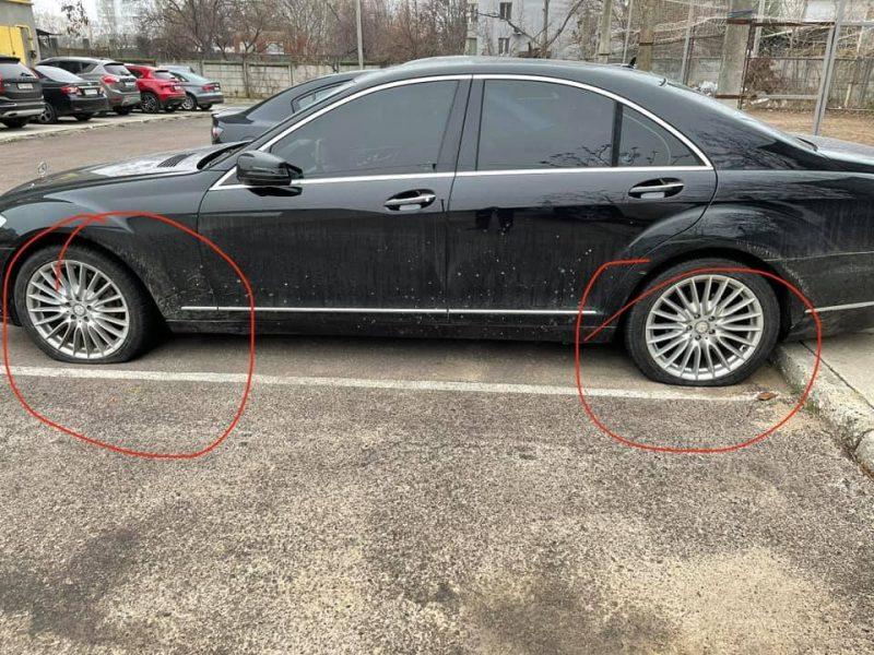 В Николаеве порезали шины авто нового члена исполкома