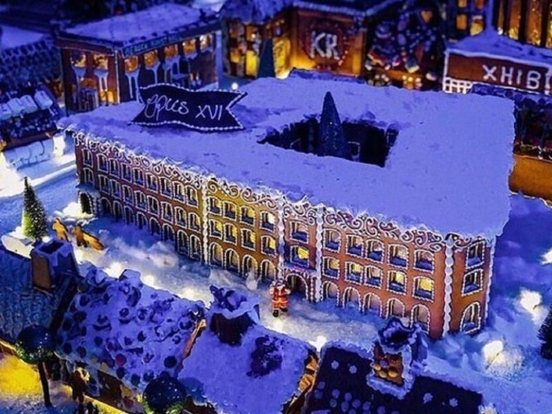 В норвежском Бергене открылся рождественский пряничный город (ВИДЕО)
