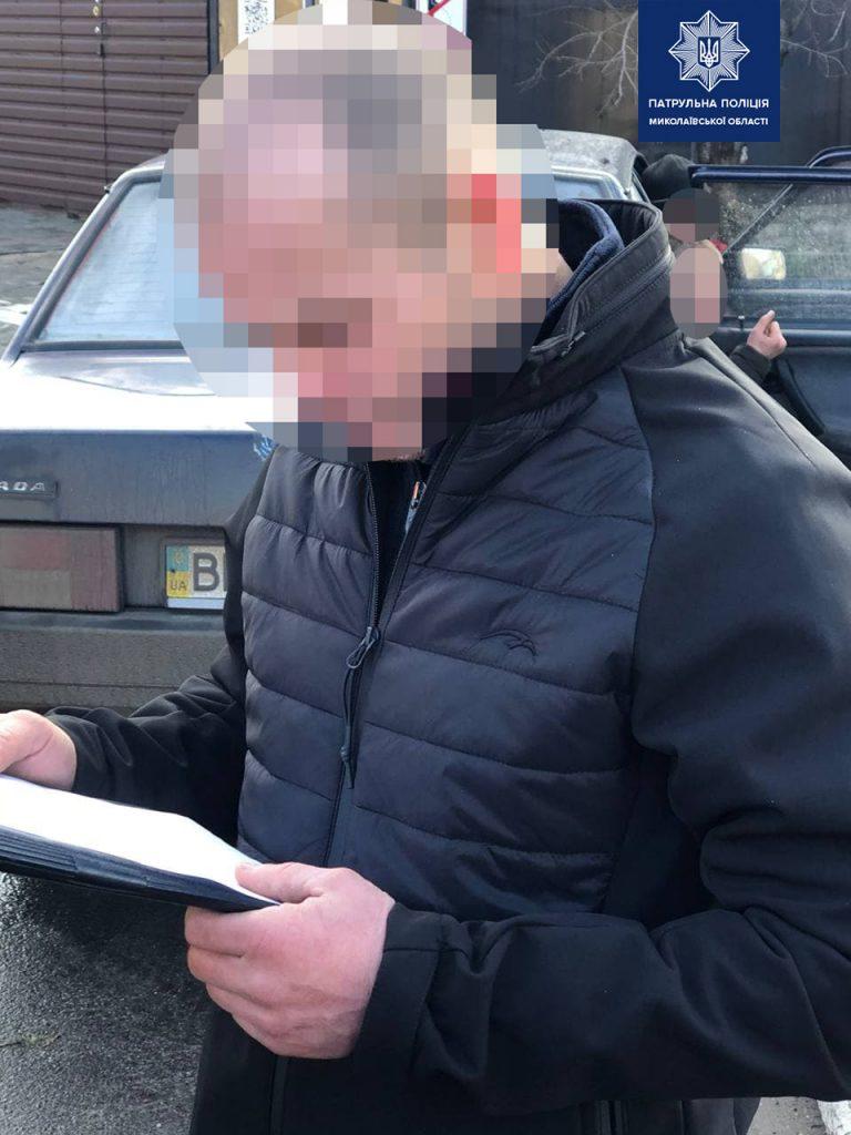 В Николаеве на пьяного водителя составили админпротокол, а его товарищем, предлагавшем 7 тыс.грн. взятки патрульным, займутся следователи (ФОТО) 1