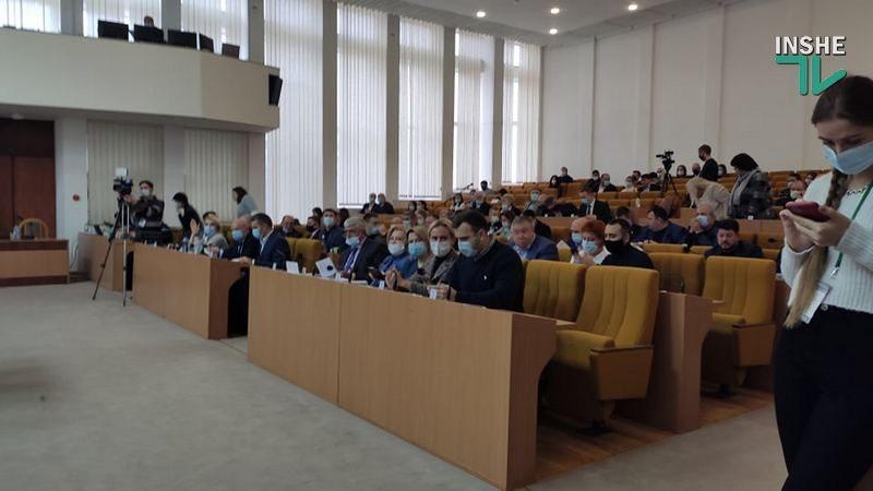 В Николаевском облсовете создано 5 фракций. Документы есть пока по четырем
