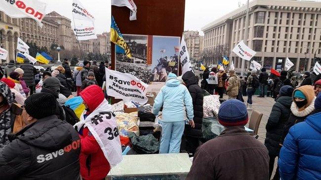 """Все бросайте, все срочно на Майдан!"" Протестующие предприниматели говорят о провокациях силовиков (ФОТО, ВИДЕО)"