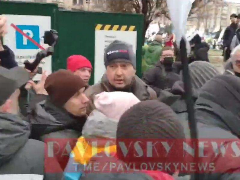 В Киеве произошли стычки полиции с протестующими предпринимателями. Полиция  применила слезоточивый газ (ВИДЕО)