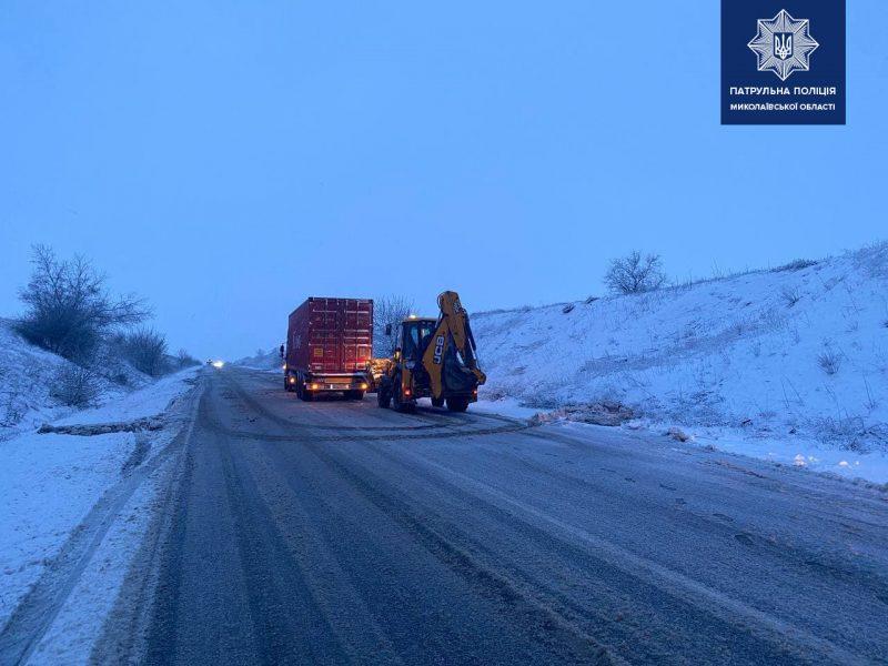 Николаевская полиция обещает привлекать к ответственности за некачественную расчистку дорог (ФОТО)