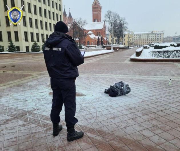 В Минске у Дома правительства мужчина совершил самоподжог (ВИДЕО)