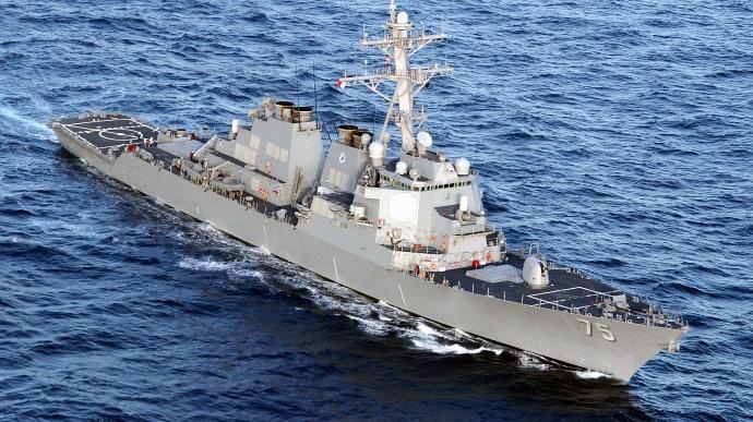 Патруль. В Черное море зашел американский ракетный эсминец Donald Cook