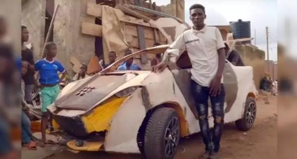 Голь на выдумку хитра. Подросток собрал авто из вторсырья за $200 (ФОТО, ВИДЕО)