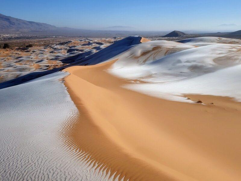 В пустыне Сахара снова выпал снег. И впервые за 40 лет был мороз (ФОТО)
