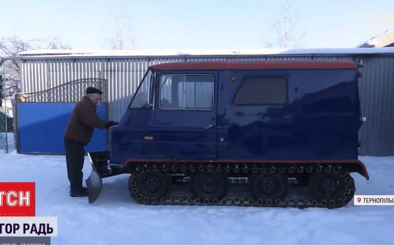 Если снова снегопад. Украинец придумал машину, которой не страшны любые сугробы (ВИДЕО)
