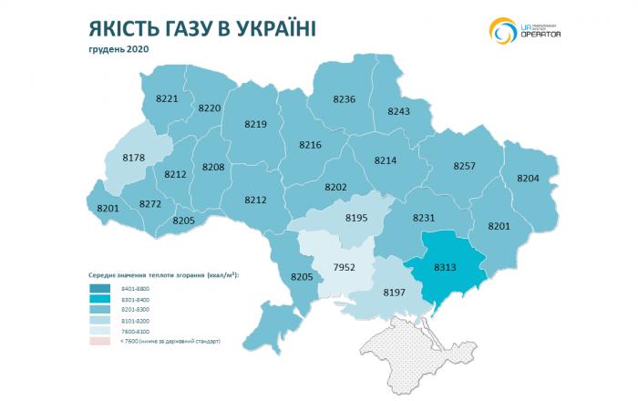 На Николаевщине в ноябре-декабре было самое низкое качество газа (ИНФОГРАФИКА) 1
