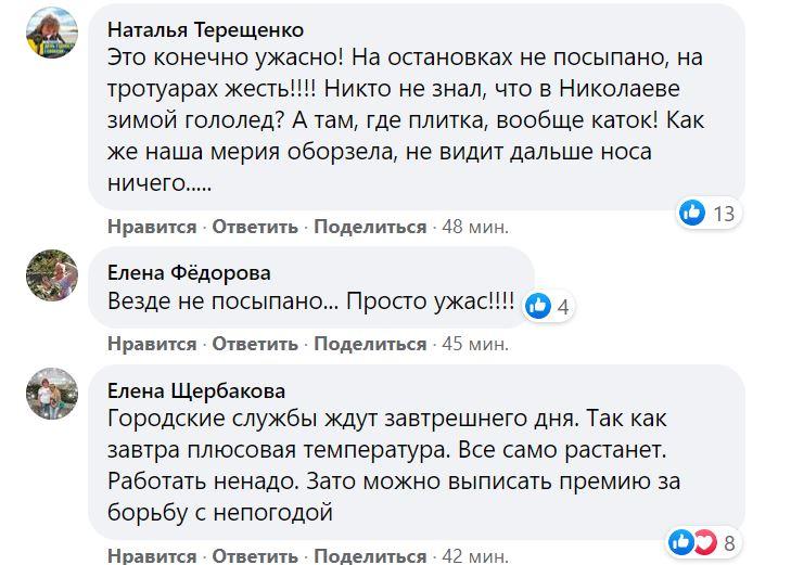 Николаев в ледяной глазури. Что говорят николаевцы (ФОТО) 33