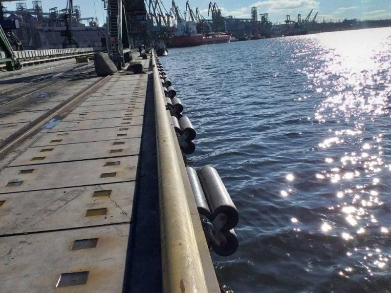 Николаевский морской порт завершил ремонт 208-метрового причала (ФОТО)