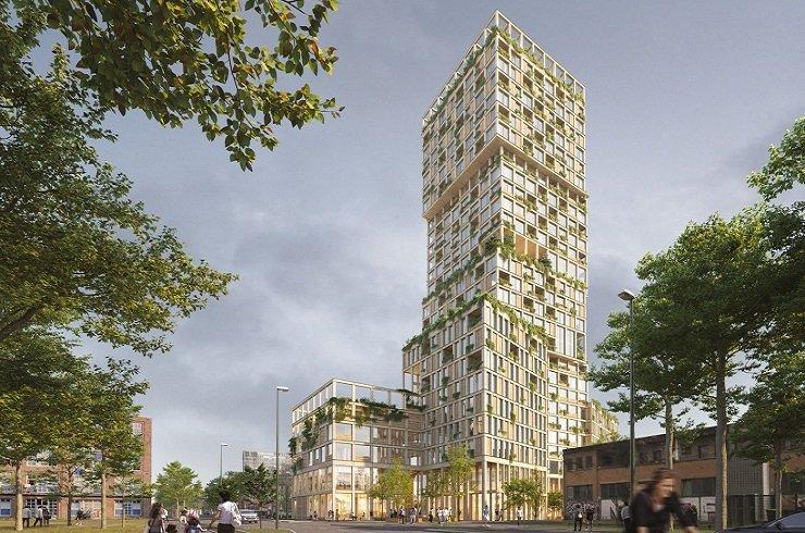 В Берлине построят 98-метровый деревянный небоскреб за 90 млн. евро