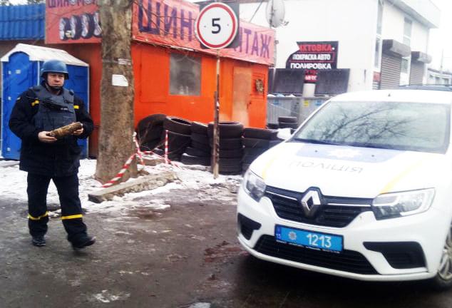 На окраине Николаева нашли артснаряд