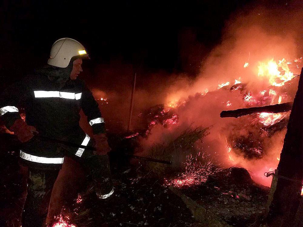В Нечаянской ОТГ выгорел камыш на площади 5 тыс.кв.м, в Баштанском районе – 15 тонн сена (ФОТО) 3