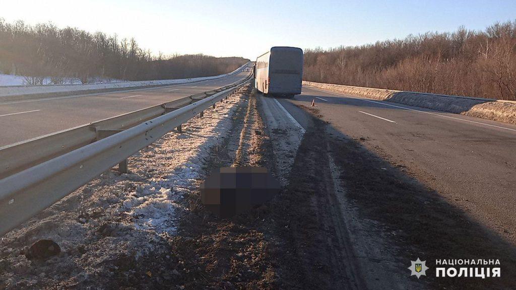На Николаевщине рейсовый автобус на трассе насмерть сбил пешехода (ФОТО) 1