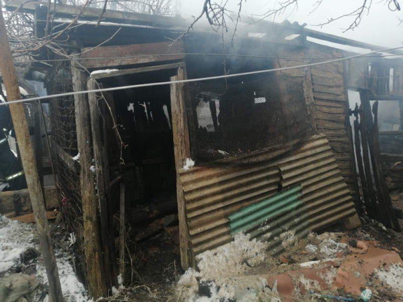 В Николаеве тушили хозпостройку — спасли 2 дома (ФОТО)
