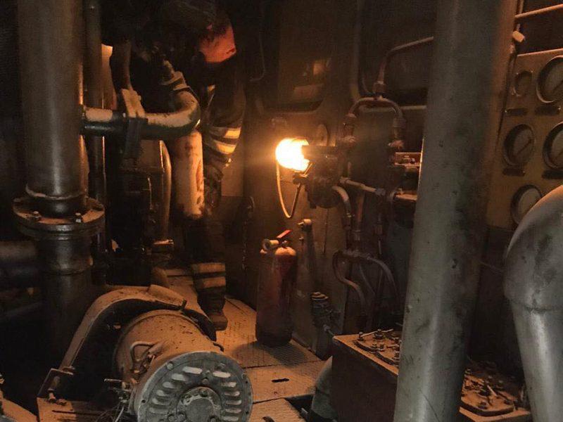 В Корабельном районе Николаева загорелся тепловоз (ФОТО)