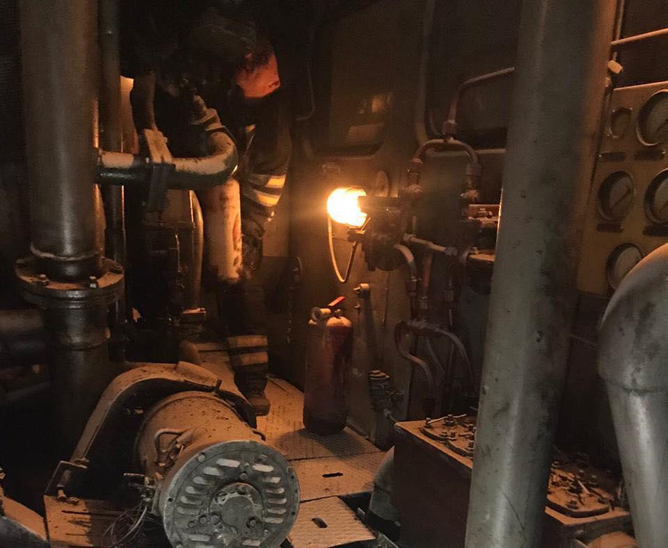 В Корабельном районе Николаева загорелся тепловоз (ФОТО) 1