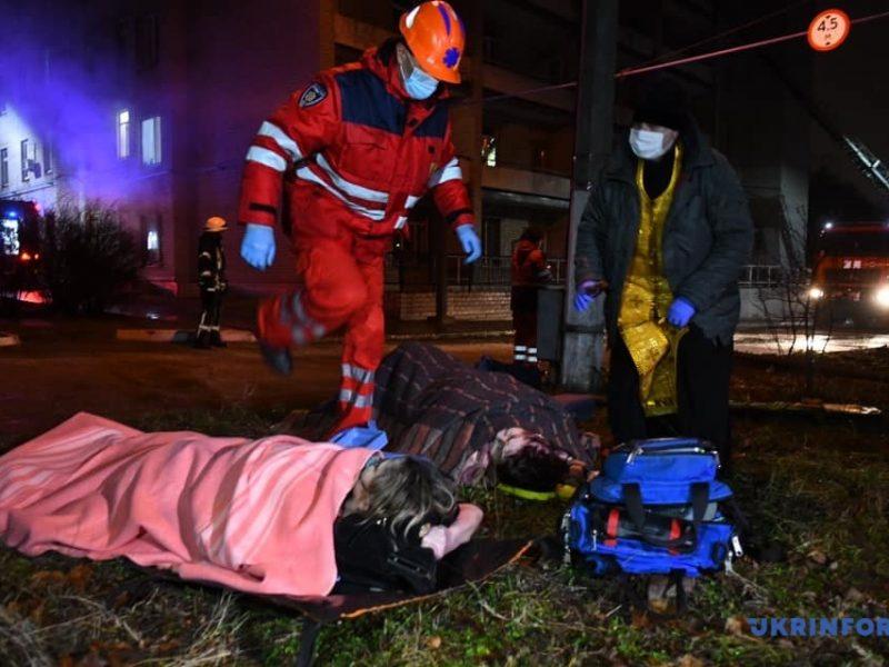 В Запорожье ночью загорелась реанимация инфекционной больницы, погибли 4 человека (ФОТО, ВИДЕО)